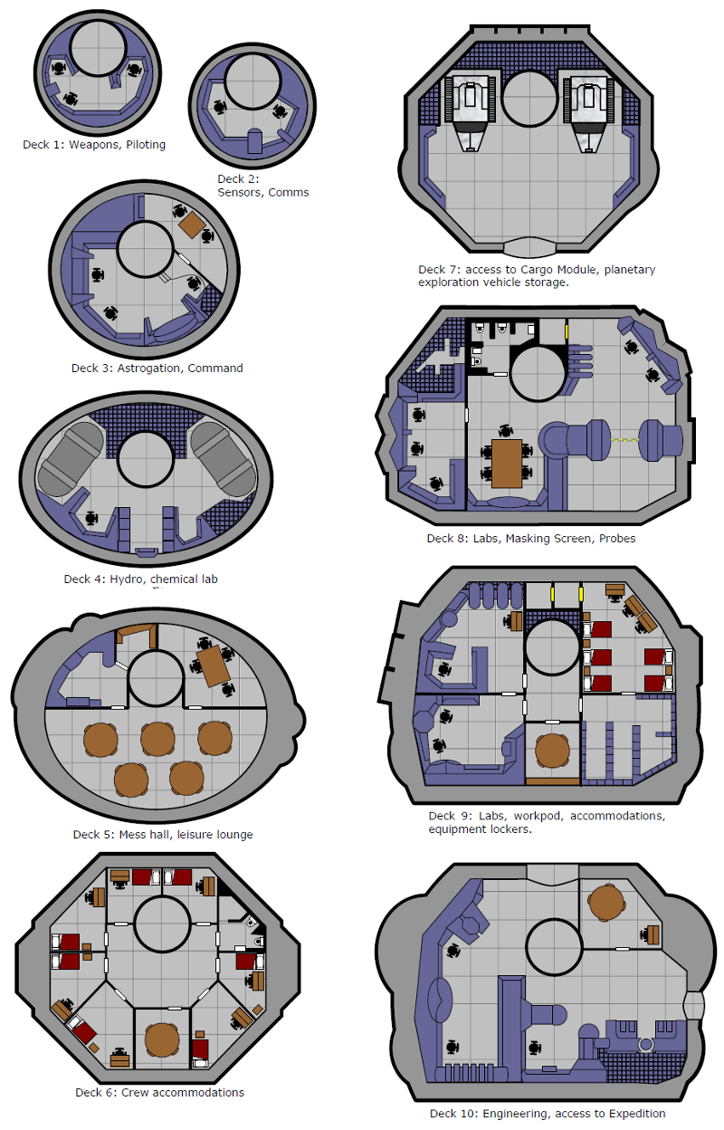 Explorer-Class Heavy Scout  Deck Plans